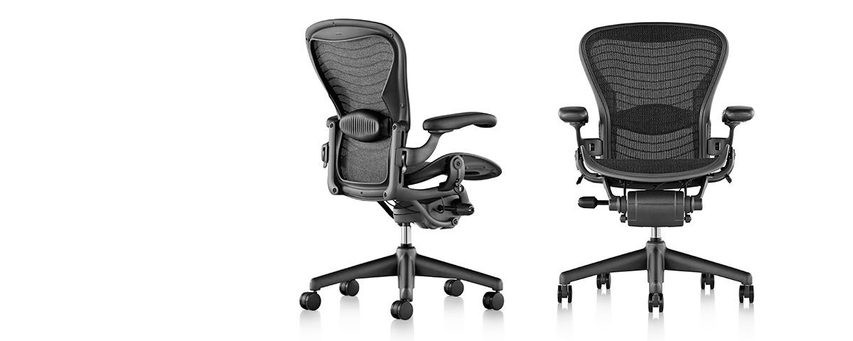 Aeron classic chairs workspace studio for Silla herman miller