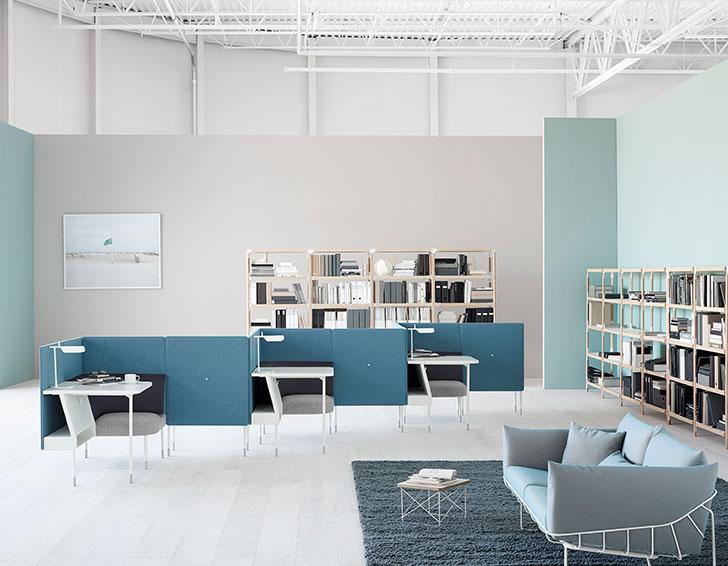 Aceste configurații Haven parțial delimitate conferă intimitate într-un spațiu de lucru mai deschis.