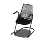 Sayl Side Chair Sled Base Product Image