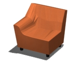 Swoop Right Arm Chair Product Image