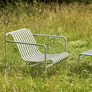 PALISSADE LOUNGE CHAIR LOW HOT GALVANISED