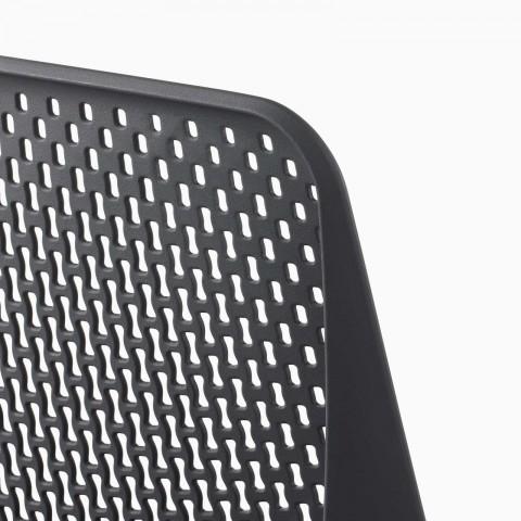 A close-up of a Verus Chair Triflex back.